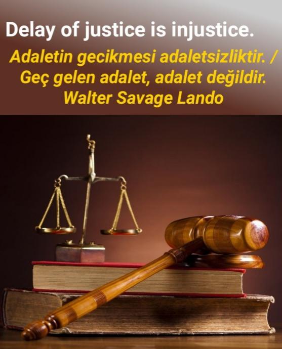 Adalet ile ilgili sözler