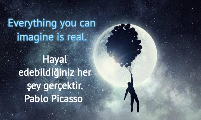 ingilizce Türkçe Hayal ile ilgili Anlamlı Sözler