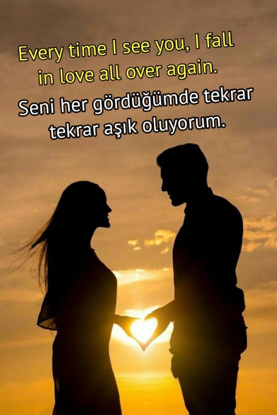 İngilizce aşk sözleri türkçe çevirili