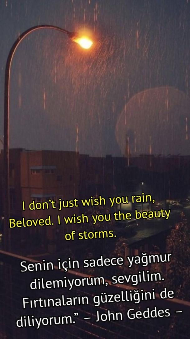 Yağmur ile ilgili ingilizce Sözler RESİMLİ