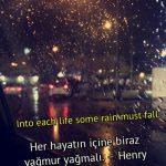 Yağmur ile ilgili ingilizce söz