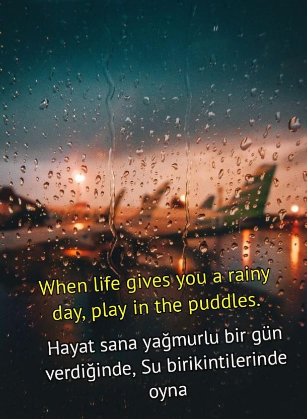 Yağmur ile ilgili ingilizce kelimeler