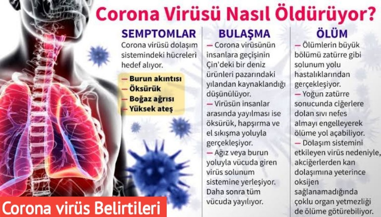 Corona virüsü belirtisi