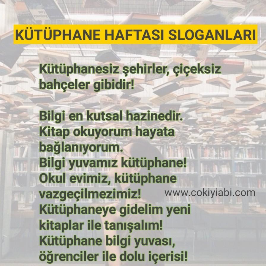 Kütüphane haftası ile ilgili Sloganlar