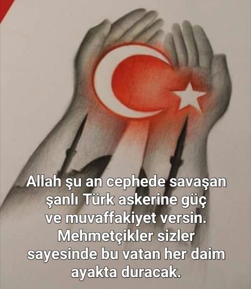 Mehmetçiklere dualar