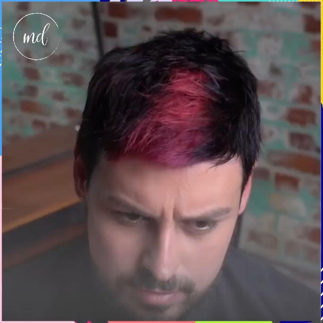 Erkek saç modelleri renkli saç