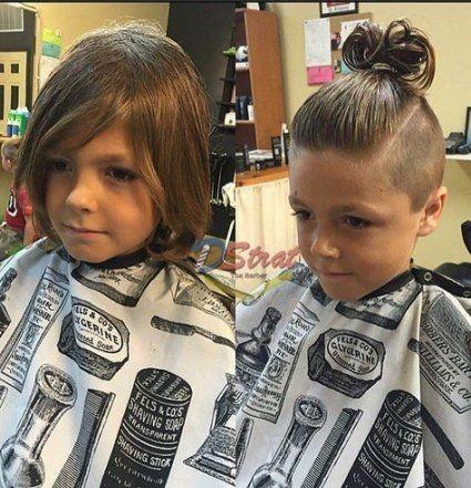Arkadan bağlamalı Erkek Topuz Saç Modelleri