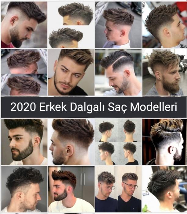 Erkekler için Dalgalı Saç Modelleri Trend