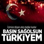 Türkiye başsağlığı mesajları