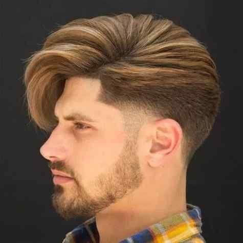 Taper fade hairstyle