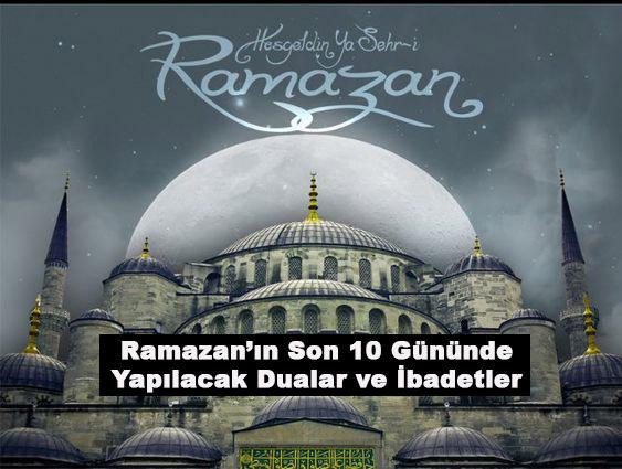ramazan ayı son 10 günü çekilen tesbihler