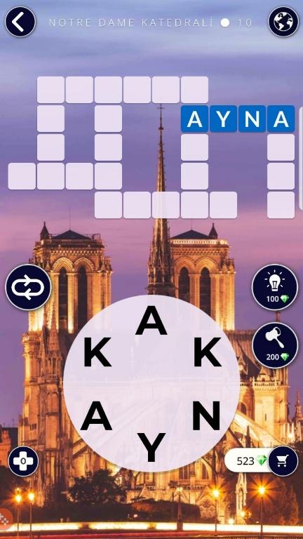 Notre Dame Katedrali 10.Bölüm Cevapları (Wow- Kelime Bulmaca Oyunu)