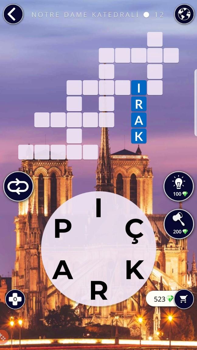 Notre Dame Katedrali 12.Bölüm Cevapları (Wow- Kelime Bulmaca Oyunu)