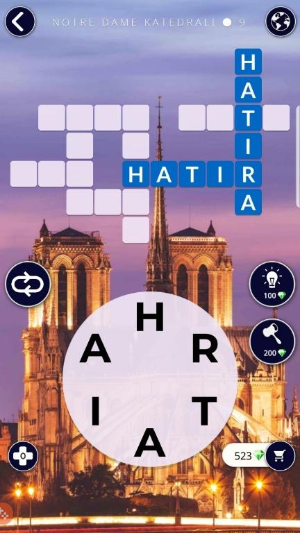 Notre Dame Katedrali 9.Bölüm Cevapları (Wow- Kelime Bulmaca Oyunu)