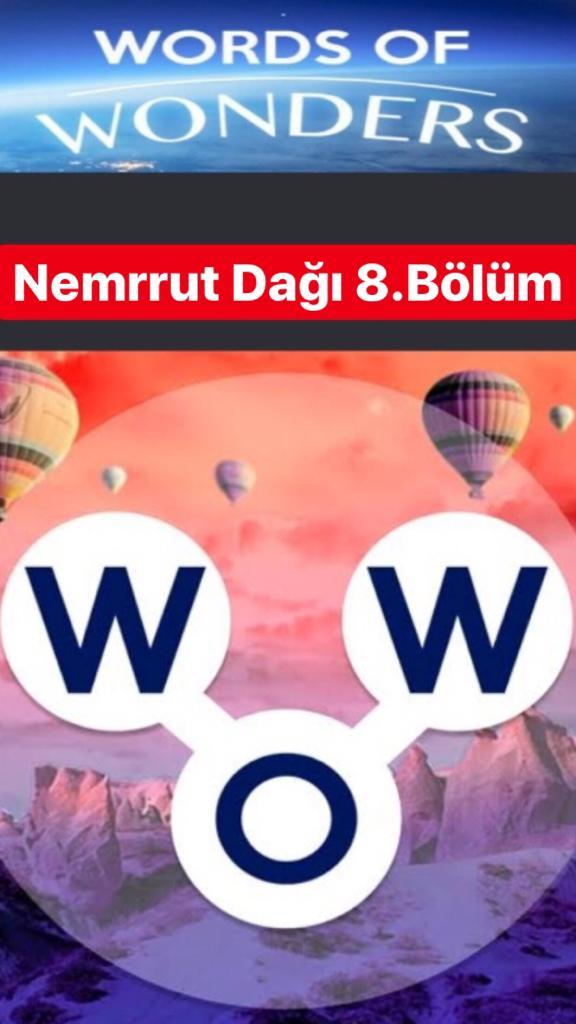 Nemrut Dağı8.Bölüm Cevapları (Wow- Kelime Bulmaca Oyunu)