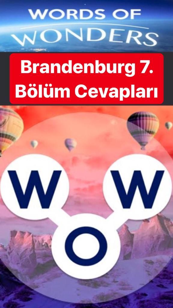 Brandenburg Kapısı7.Bölüm Cevapları (Wow- Kelime Bulmaca Oyunu)