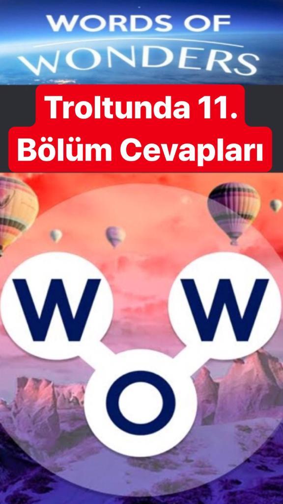 Trolltunga11.Bölüm Cevapları (Wow- Kelime Bulmaca Oyunu)