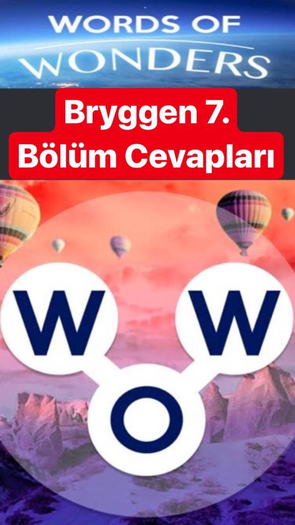 Bryggen7.Bölüm Cevapları (Wow- Kelime Bulmaca Oyunu)