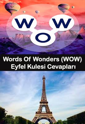 wow eyfel kulesi kelime oyunu cevapları