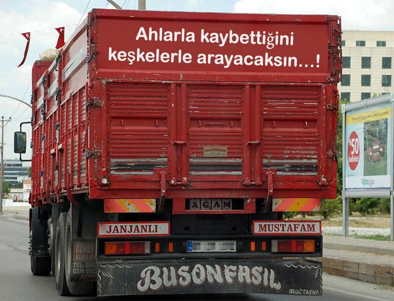 kamyon arkası güzel sözler