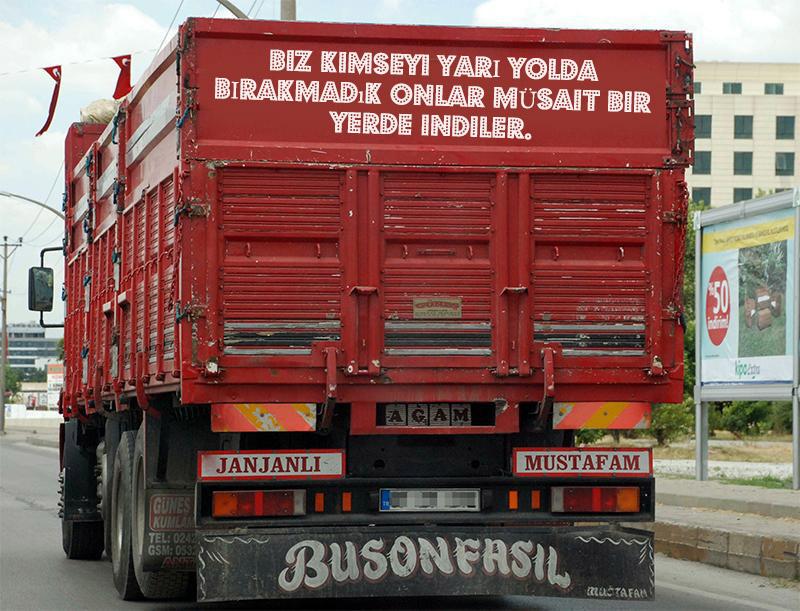 kamyon arkası anlamlı sözler