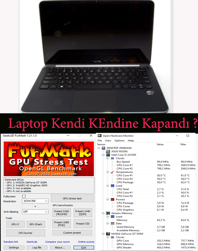 Laptop Kendi Kendine Kapanıyor Çözüm
