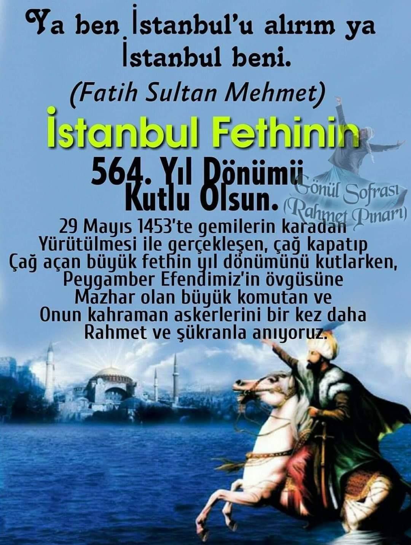 istanbul'un Fethi ile ilgili Sözler ve Şiirler