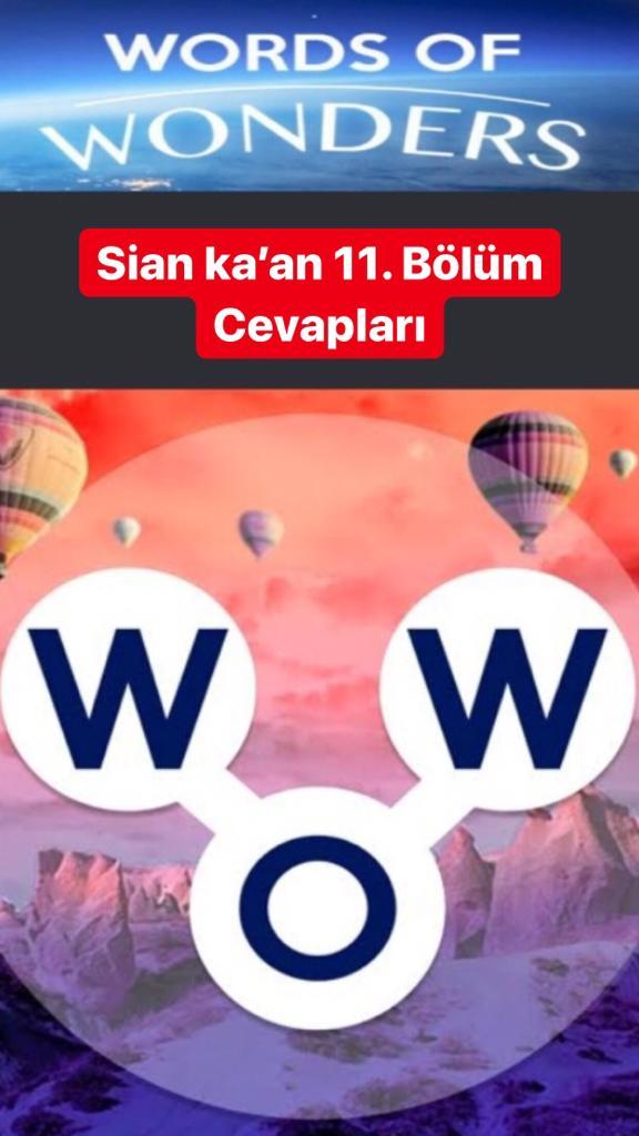 Sian ka'an 11. Bölüm (Wow- Kelime Bulmaca Oyunu)
