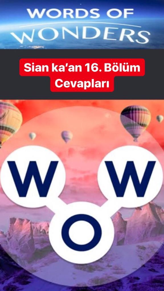 Sian ka'an 16. Bölüm (Wow- Kelime Bulmaca Oyunu)