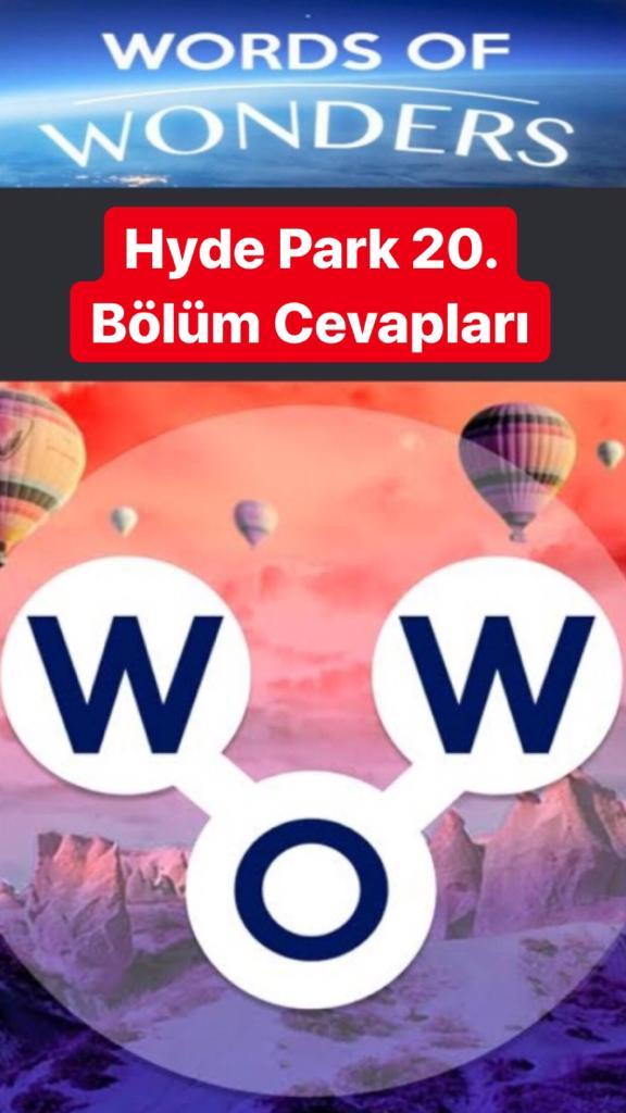 Hyde Park 20. Bölüm (Wow- Kelime Bulmaca Oyunu)