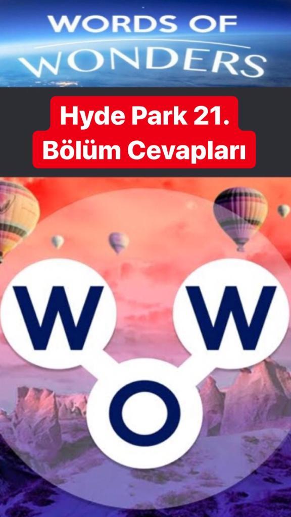 Hyde Park 21. Bölüm (Wow- Kelime Bulmaca Oyunu)