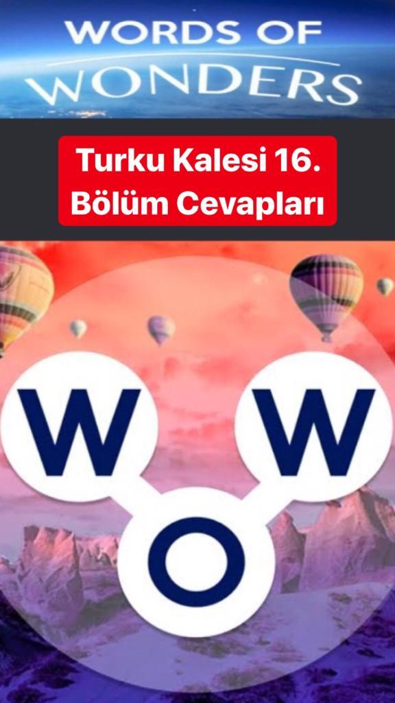 Turku Kalesi 16. Bölüm (Wow- Kelime Bulmaca Oyunu)