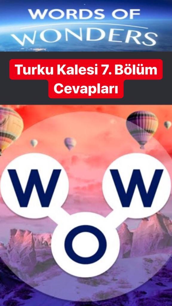 Turku Kalesi 7. Bölüm (Wow- Kelime Bulmaca Oyunu)