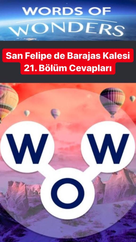San Feli̇pe de Barajas Kalesi̇ 21. Bölüm (Wow- Kelime Bulmaca Oyunu)