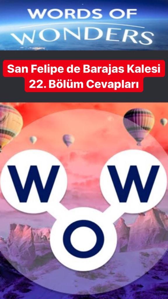 San Feli̇pe de Barajas Kalesi̇ 22. Bölüm (Wow- Kelime Bulmaca Oyunu)