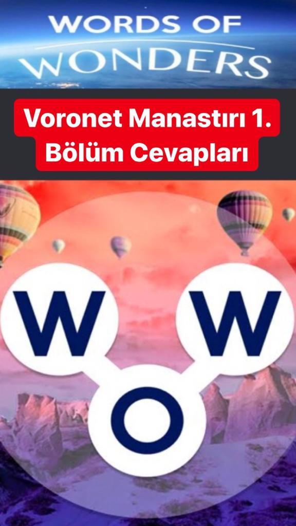 Voronet Manastırı 1. Bölüm (Wow- Kelime Bulmaca Oyunu)
