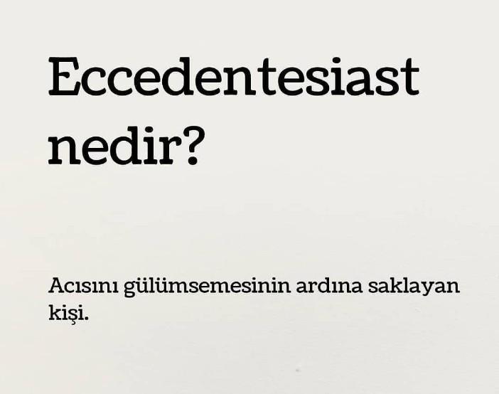 Eccedentesiast Anlamı Nedir ?