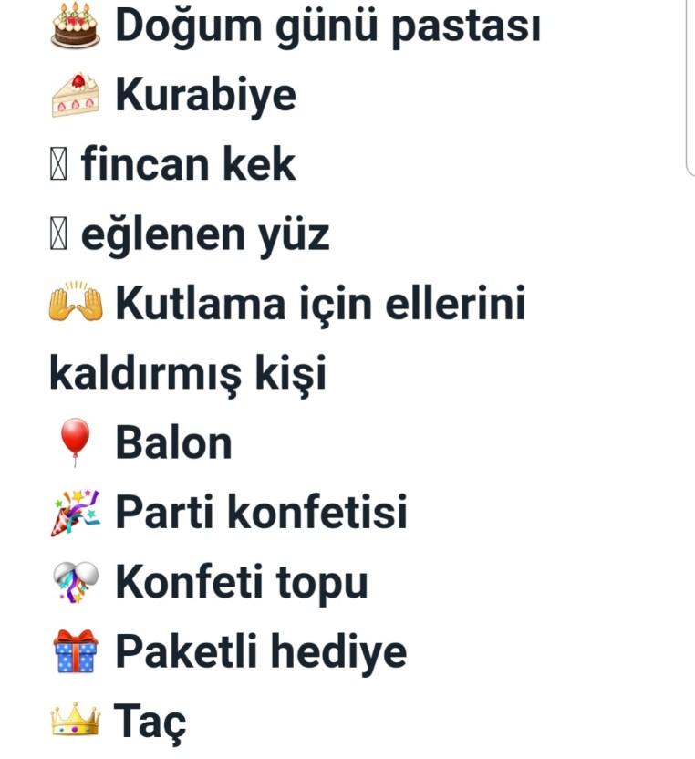 Doğum Günü Kutlama Emojileri
