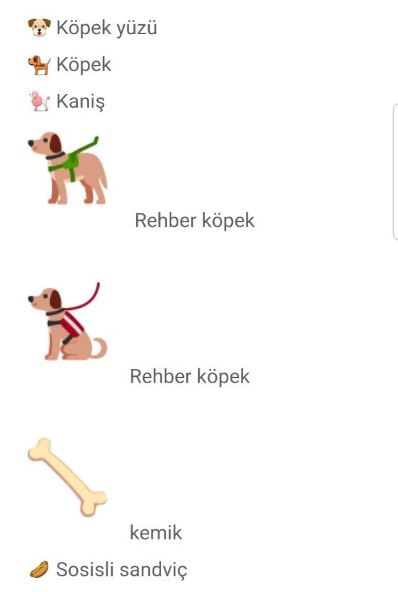 Köpek emojisi kopyala yapıştır