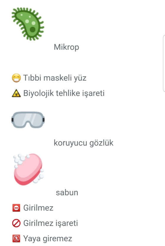 Virüs Emojileri,Korona virüs Emojileri