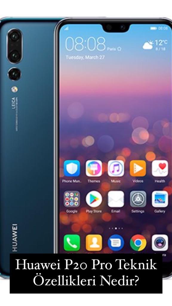 Huawei P20 Pro Teknik Özellikleri