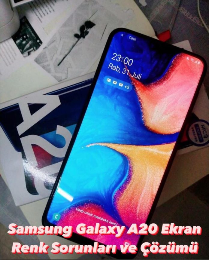 Samsung Galaxy A20 Ekran Renk Sorunları