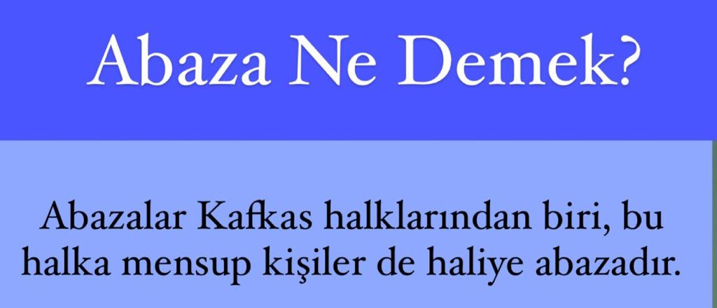 Abaza Ne Demek?
