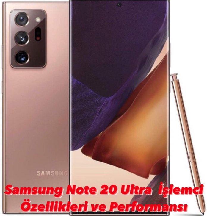 Samsung Note 20 Ultra İşlemci Özellikleri