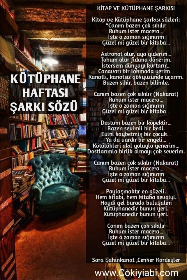 Kütüphane haftası Şarkısı ve Sözleri