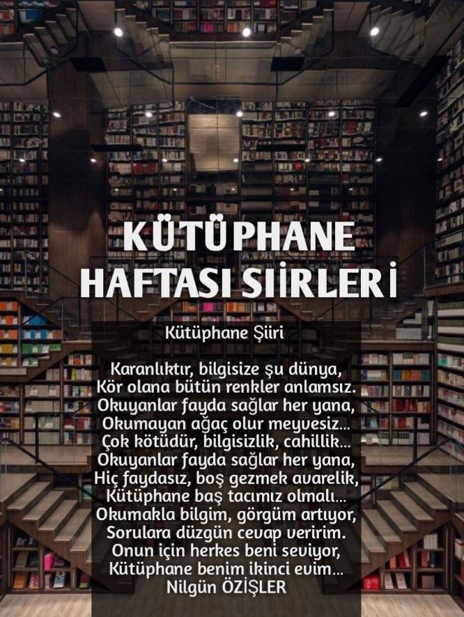 Kütüphane Haftası Şiirleri (1,2.3…Kıtalık)