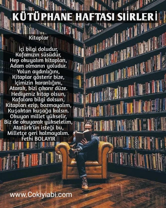 Kütüphane haftası ile ilgili Şiirler
