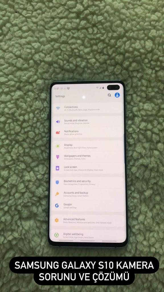 Samsung Galaxy S10 Kamera Kararma Sorunu