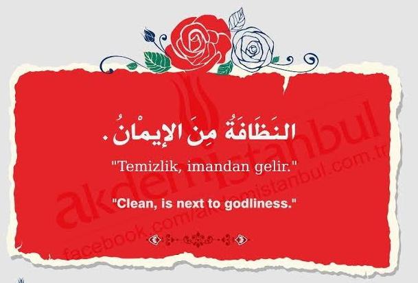 Temizlik ile ilgili dini sözler