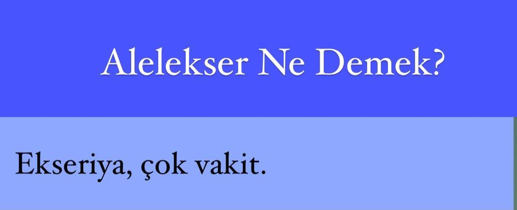 Alelekser Ne Demek?